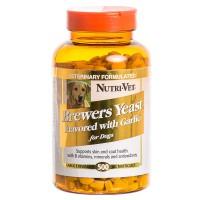 Витамины, добавки Nutri-Vet Brewers Yeast пивные дрожжи с чесноком для собак