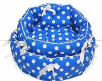 CLP круглая лежанка «Синий горох» для животных