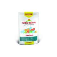 Almo Nature Паучи 75% мяса для кошек c макрелью, Classic Raw Pack - Mackerel