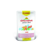 Almo Nature Паучи тунец и креветки в желе для кошек, Classic Nature Jelly - Tuna and Shrimps