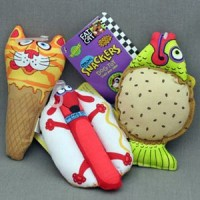 "Fat Cat ""Звери - закуски"", мягкая, Mini Snacklers Dog Toy (665024)"