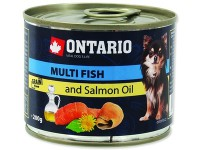 Ontario консервы для собак малых пород: рыбное ассорти. Mini - Multi Fish and Salmon oil.