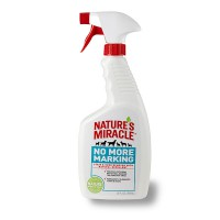 8in1 Nature's Miracle No More Marking Stain & Odor Remover Spray. Уничтожитель пятен и запахов против повторных меток спрей