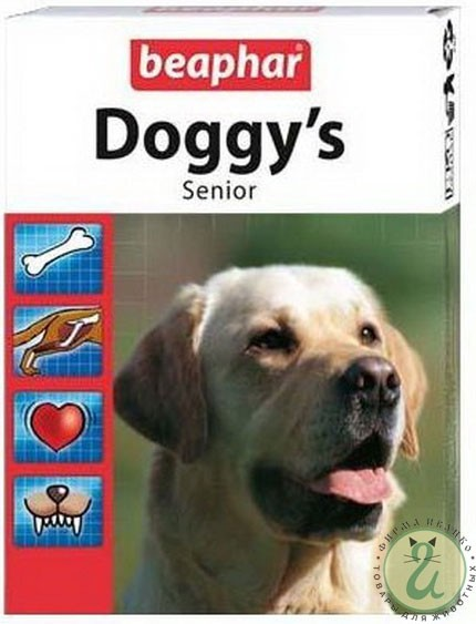 Витамины для собак Doggy's Senior для пожилых собак Beaphar Beaphar Doggy's Senior