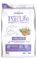 Flatazor PURE LIFE STERILIZED 8+ WITH DUCK AND WHITE FISH